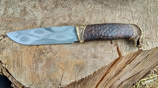 Нож кобра дамаск