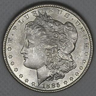 1 доллар США 1885. Серебро. 26,79 г