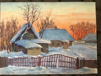 А.Черкас 'Зимний день' 1968г
