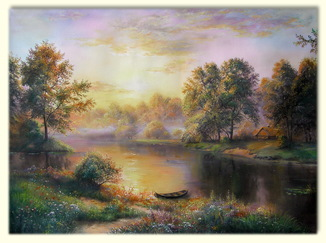 Домик у реки.