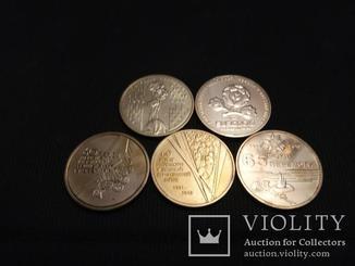 Набор 1 грн 2004 + 2005 +2010 + 2012 +2015 маки 60 65 лет победы евро  5 МОНЕТ