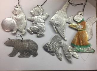Картонні іграшки звірі, риби