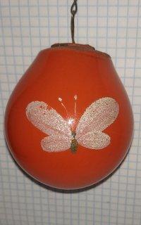 Елочная игрушка лампочка с рисунком