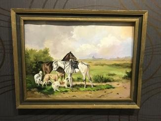 Пейзаж «Лошади на пастбище»