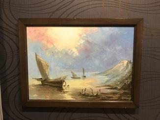 Морской Пейзаж с Парусниками