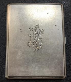 Серебряный портсигар 875 пробы