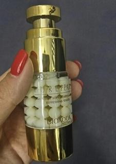 Крем-гель для кожи вокруг глаз Bioaqua Pure Pearls с жемчужной пудрой