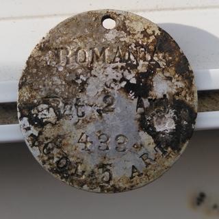 Румынский личный опознавательный знак обр. до 1920х годов
