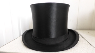 Старинная складная шляпа цилиндр шапокляк