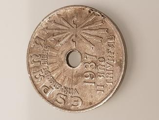 Испания 25 сентимо, 1937