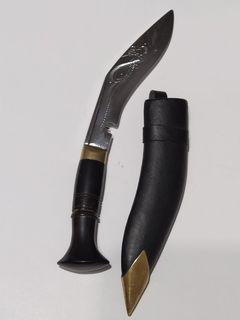 Нож с деревянной рукоятью латунь в чехле