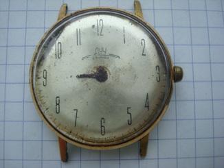 Часы Луч тонкие позолота ау 20 позолоченный механизм