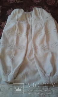 Старинная украинская вышиванка.(Сумщина)   белым по  белому с вырезанием.