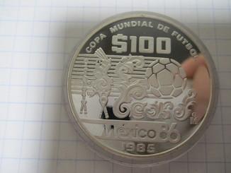 Мексика 100 Песо 1985 Ag-925   32.6 грамм