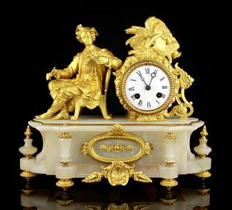 Каминные часы XIX века S.Marti & Cie. Medaille de Bronze. Франция (0420)