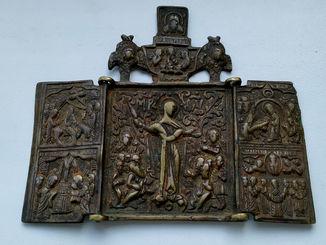 Складень Богоматерь всех скорбящих радость . 18 век