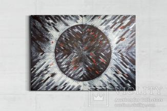 """""""Eclipse. Indigo"""" акварельная абстракция 140х100 см. Ю. Смаль"""