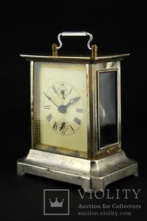 Старинные каретные часы будильник Junghans. Германия. (0382)