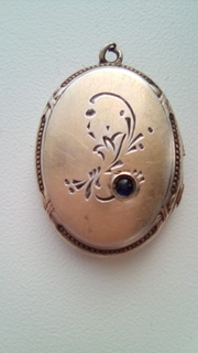 Дореволюционный серебряный кулон в позолоте