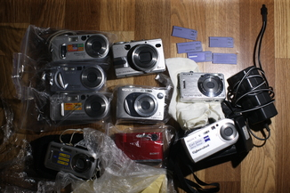 Групповой лот Sony V1, W1, T50, S600, P2, P8, P9, P100