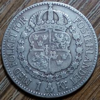 Швеция 1 крона 1914 г.