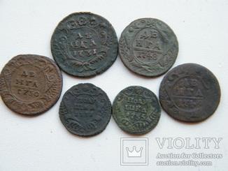 Деньга 1730,31,35,48,49 года.