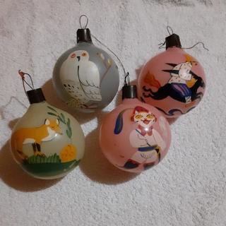 Ёлочные игрушки шары из толстого стекла руччной росписи