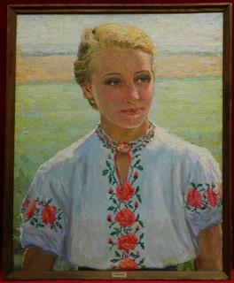 Картина Портрет Украинки, холст, масло. Размер 73 х 58 см..