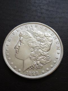 Доллар Морган 1889год.AU.