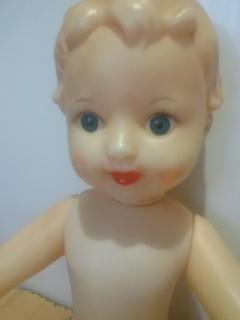 Кукла с рельефными волосами целлулоид