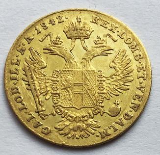 Дукат 1842 года. Австро-Венгрия.
