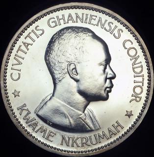Гана 10 шиллингов 1958 пруф серебро 28.28 грамм