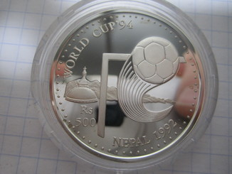 Футбол Непал 500 Рупия Ag 925 вес 31.47