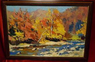 ''Горная речка'',Й.Бокшай,1962 г.,60×39,5 см.