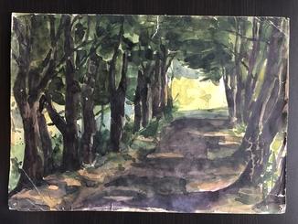"""Генриетта Левицкая, малюнок """" Лесной пейзаж """""""