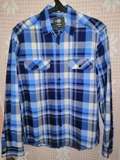Мужская рубашка в клетку H&M