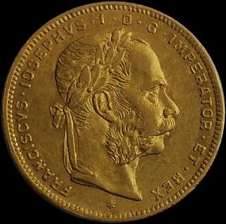 8 флоринів - 20 франків 1877 року, Австро-Угорщина