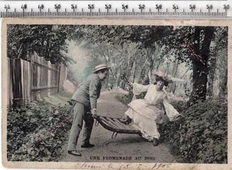 Старинная открытка. 1906 годa. Фэнтези, пара мужчина женщина.