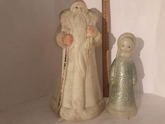 Винтажный Дед Мороз и Снегурочка 40-х годов