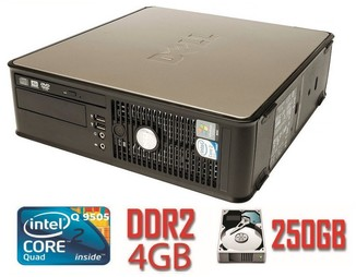 Системный блок DELL 760 SFF Q9505/DDR2 4Gb/250Gb