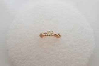 Колечко с бриллиантом 0,74 карат + сертификат качества