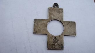 Знак Камчатского православного братства, серебро 84 пр, Линден