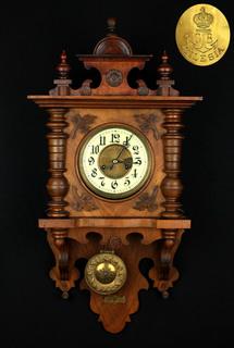 Gustav Becker Silesia. Настенные часы. Германия. (0428)