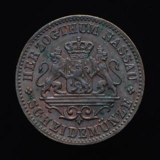 1 Крейцер 1863, Нассау