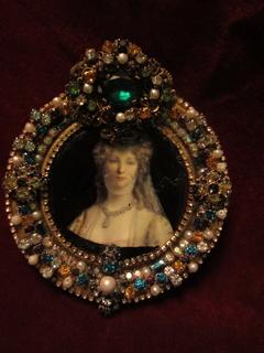"""Портретная миниатюра """" Последняя Королева Пруссии Луиза Мекленбургская"""", (1776-1810)"""