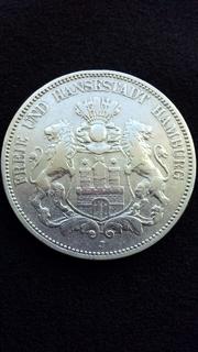 5 марок 1876 год (вольный город Гамбург)