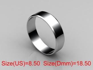 18,50 (размер) 5мм(ширина) Бесшовное обручальное кольцо (Американка) серебро(925)