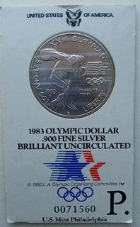 Олимпийский Доллар 1983 Brilliant Uncirculated
