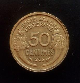 50 сантим 1936 года, Франция