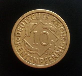 10 рентенпфеннигов 1924 года (А).